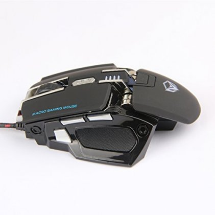Cod.073  Mouse Gaming MEETION Black MT-M975/USB /1.8m/ 6 botones programables