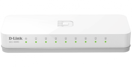 Cod.056 SWITCH D-LINK DES-1008C/8-PUERTOS FAST ETHERNET LAN/HASTA 200Mbps/ PLUG AND PLAY/Tamaño compacto/
