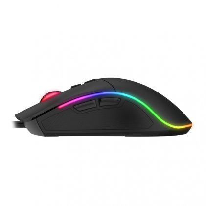Cod.084  Mouse Gaming INS GO Black GT-MS75 /USB /1.6m/luz Led de colores/ 6 botones programables