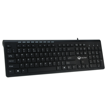 Cod.114 Teclado Multimedia Meetión MT-K842M/Chocolate (negro)/USB/Español