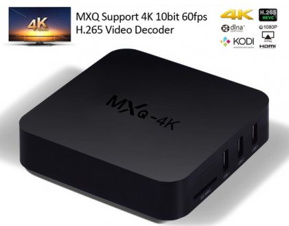 Cod.306 TV BOX INS 4K ULTRA HD/Android 7.1/1GB RAM/8GB ROM/Wifi/HDMI/LAN/USB/SD/MXQ-4K