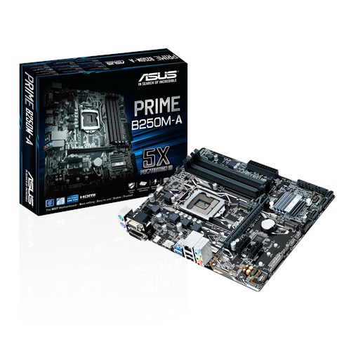 Cod.075 Mainboard ASUS PRIME B250M-A/Socket 1151/4 DDR4/MICRO AT