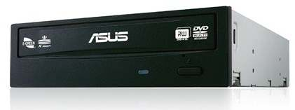 Cod.042 DVD-RW ASUS DRW-24F1ST/BLK/B/AS/SATA I/1.5 Gb/s/ 24x/Win