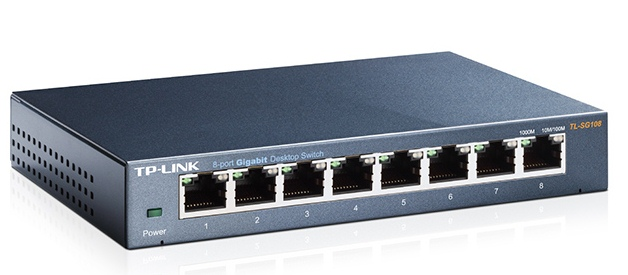 Cod.023 Switch Desktop TP-LINK TL-SG108 GIGABIT/ 8 puertos RJ45/