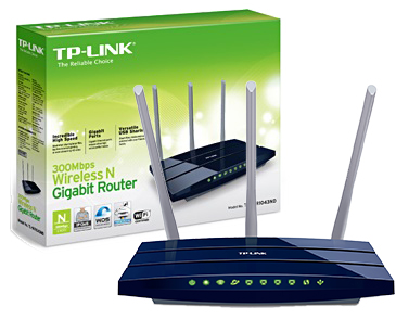 Cod.026 Router Gigabit TP-LINK TL-WR1043ND/300Mbps Wireless N/6-